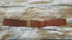"JAG 32"" mens Tan 100% Genuine Leather Heavy Belt"