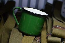 Original Russian, Soviet Army Soldier Metal Enameled Cup Mug