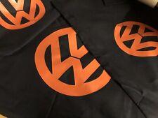 vw logo black double duvet quilt cover +2 pillowcases black & orange campervan