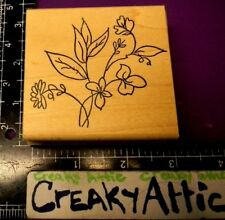 LOOSE FLOWER BOUQUET STEMS LEAVES RUBBER STAMP ME AND CARRIE LOU