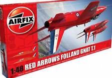 Airfix Rouge Flèches Folland Moucheron T.1 RAF Royal Air Force Kemble 1:48