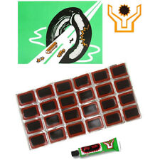 48pcs Bicycle Tyre Tire Tube Rubber Patches Puncture Repair Patch Kit Glue