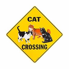 Cat Crossing Sign Free Shipping