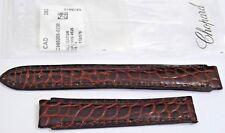 NEW Chopard Nubuck Gloss Brown Alligator 16/14mm Strap w/o Buckle, Stock #A101
