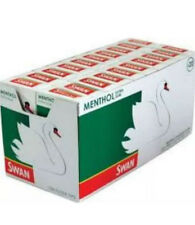 Swan Precut Menthol Cigarette Filter Tips 2 Full Boxes of 20 Packs of 120 £20.99