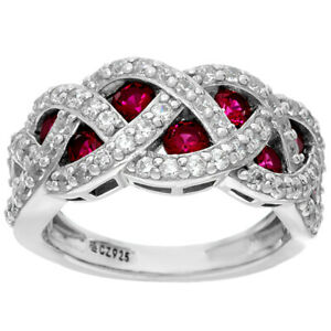 QVC Diamonique and Floating Simulated Gemstone Ring Sz 7 Sterling $130