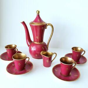 Antique Swedish Tea Set Vintage KP Karlskrona Sweden Teapot Cups Saucers Cream