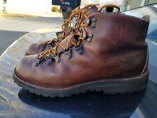 Vintage Danner Hiking Boots Mens Size 10.5  Genuine Leather Brown Work 8290