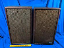 Sherwood 10 VTG Floor Speakers Wood Mid Century Musicraft Acoustic Suspension