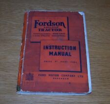FORDSON E27N MAJOR TRACTOR INSTRUCTION MANUAL 1947.