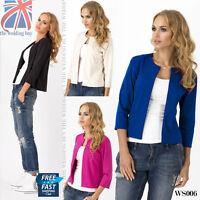 UK Elegant & Classic Women's Blazer Casual Jacket Style Cape Sizes 8 -14 WS006