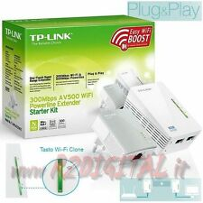 ADAPTADOR TL-WPA4220KIT KIT 2 POWERLINE DE GATO LAN + WIFI ETHERNET 500Mbps Wifi
