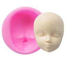 AU 3D Baby Face Silicone Cake Mould Fondant Sugarpaste DIY Doll Head Mold DM