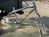 Old School Bmx Gt Frame Tange Forks And  Headset  1983