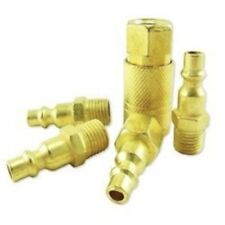 5 Pc Quick Connect Air Coupler Set Brass Air Hose Quick Coupler Fitting