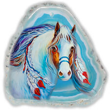 Color Printing Horse Agate Gemstone Pendant Necklace H1908 1691