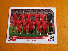 543 EQUIPE TEAM PORTUGAL PANINI FOOTBALL FIFA WORLD CUP 2010 COUPE DU MONDE