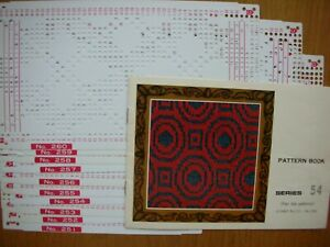 Machine Knitting -PATTERN BOOK 54 & 10 PUNCH CARDS FOR STANDARD GAUGE MACHINES