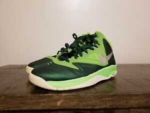 Nike Basketball Shoes Youth Size 5Y Green/Silver Reflective