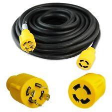Leisure Cords NEMA L14-30 4 Prong Locking 30 Amp Generator Extension Cord, 50 ft