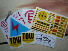 Race Car Switch Dashboard Tow Stickers Pack. Racing Circuits Rally Dash Labels