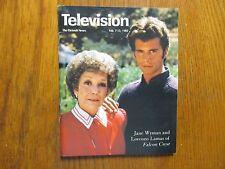Feb. 7, 1982 Detroit News Television Mag(FALCON CREST/JAME WYMAN/LORENZO  LAMAS)