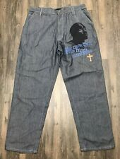 Makaveli Branded Tupac 2pac Mens W38 L34 Pants The Rose That Grew From Concrete