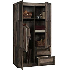 Wardrobe Armoire FarmHouse Rustic Reclaimed Wood Cabinet Storage Closet