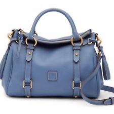 Dooney & Bourke Samba Small Leather Dusty Blue Satchel Bag NWT Rare