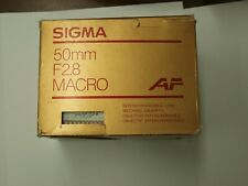 50mm SIGMA F2.8 NEW AF AUTOFOCUS MACRO LENS for SONY ALPHA MINOLTA MAXXUM CAMERA