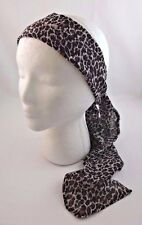 Animal print headband scarf cheetah leopard brown black white