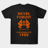 Never Forget Nakatomi Plaza Christmas Eve Funny Black T-shirt S-3XL