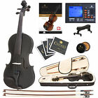 Cecilio 4/4 Ebony Fitted Solidwood Violin Metallic Black +Tuner+Book/Audio/Video