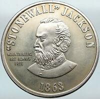 1863 UNITED STATES USA West Virginia STONEWALL JACKSON Silver Medal Token i88300