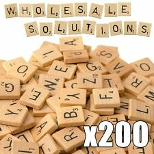 Scrabble Piastrelle X 200 Nero in Legno Lettera Alfabeto in Legno Artigianale giochi da tavolo