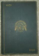 VERY RARE, 1895, SIGNED, 1ST ED, A BRIEF HISTORY OF THE LOTOS CLUB, ELDERKIN