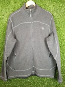 the north face grey mens sherpa fleece jacket size XL