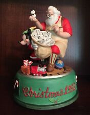Disney Mickey Mouse Santa's Workshop '93 Wish You a Merry Christmas Music Box