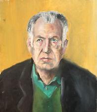Vintage impressionist man portrait oil painting