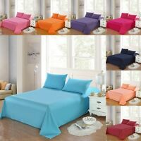 New Come 100% Cotton Bed Sheet Set Bedding Flat Fitted Sheets Queen King Size