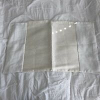 New! Hudson Park White Linen & Ivory Silk Pillow Case