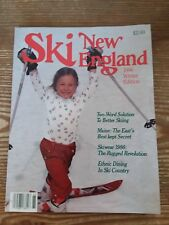 1986 Ski New England Mag. Winter Ed. Ex/Mint A Look Back Into Skiing 32 Yrs Ago!