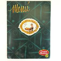 Vintage Carta Blanca Restaurant Menu - Los Angeles, CA