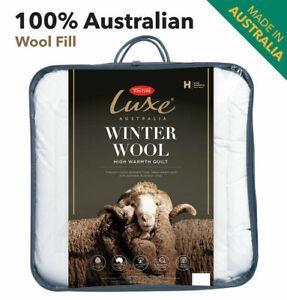 Tontine Luxe Australian Wool Quilt Doona Duvet Winter Single-Double-Queen-King