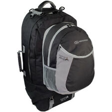 Highlander Explorer Ruckcase 45+15 Litres Travel Bag Ripstop Holiday Pack Black