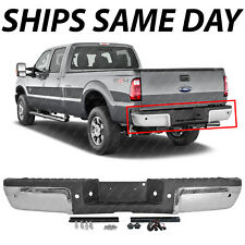 NEW Chrome Rear Bumper Assembly for 2008-2012 Ford F250 F350 Super Duty w/ Park