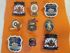 Collection of Police, Firefighters & Military Curling Club Pins