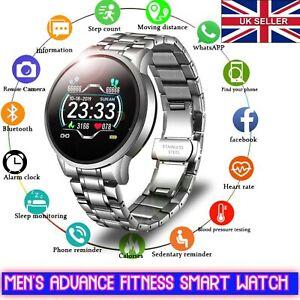 Men's Digital Wrist Fitness Tracker Heart Rate Monitor Waterproof Smart Watch