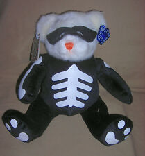 Applause white   plush BEAR  with SKELETON and MASK       item 48973       NWT