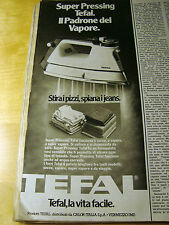 PUBBLICITA' ADVERTISING WERBUNG 1979 TEFAL SUPER PRESSING FERRO DA STIRO (G50)